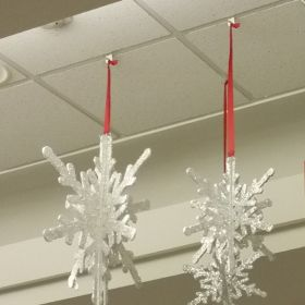 Ceiling J Hook Sign Holder, Right Angle, 7028R