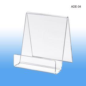 3 1/2 inch wide acrylic display easel, ADE-34
