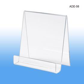 5 1/2 inch wide acrylic display easel, ADE-56