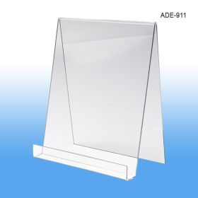 9 inch wide acrylic display easel, ADE-911