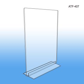 "5"" W x 7"" H ""T"" Style Sign Holder, ATF-507"