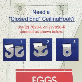 Closed End Ceiling Hook, 7028R