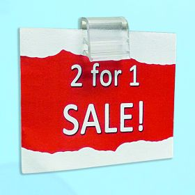 "mini gripper sign holder, 1"" wide, EG-17-1"