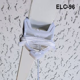 ceiling grid clip with 8 foot barbed cord, ELC-96