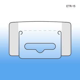 Hang Tabs - Euro Style Hole - Sombrero Hole - Clear Plastic Adhesive, ETR-15
