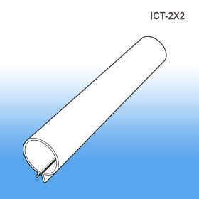 Inventory Control Tube   Clip Strip - Peg Board Retail Display, ICT-2X2