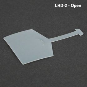 UPC label holder in open position, LHD-2