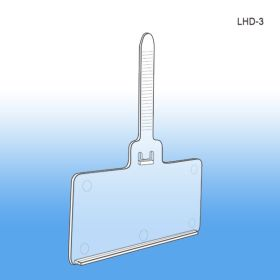 Econo Tag Locking Strap Label & Sign Holder, For Wire Displays, LHD-3