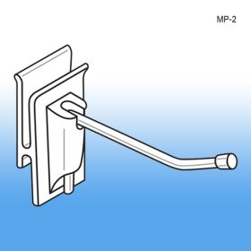 "Strong 2"" No Sag™ Easy Remove Back Corrugated Power Panel Metal Hook, MP-2"