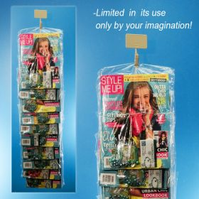 Magazine display with metal clip strip, MS-29