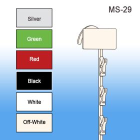Heavy Duty Metal Clip Merchandising Strip, 12 Stations, MS-29