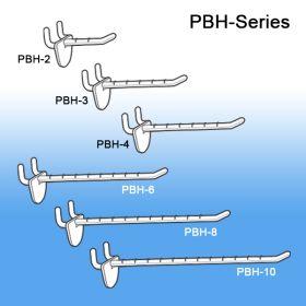 "6"" Peg Board and Slatwall Display Hook, PBH-6"