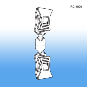 Double Roto Clip Sign Holder | POP Swivel Display, RC-1000