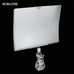 swivel pop clip with sign holder, RCSH-3700