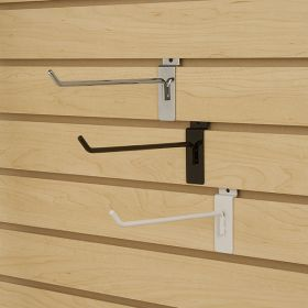 metal slat wall display hooks, SHM-14-BK