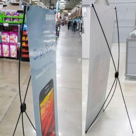 Speed Set Economy X Style Banner Stand Display - Floor Model, SST-64F
