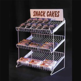 Countertop Product Display Metal Rack, 3 Shelf Levels, SWCD-320