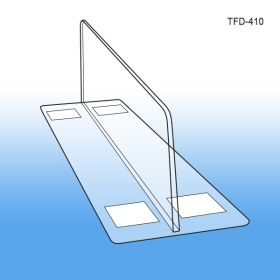 "3"" tall x 10"" deep Thermo Formed Adhesive Based Shelf Divider, TFD-410, 3"" wide base"