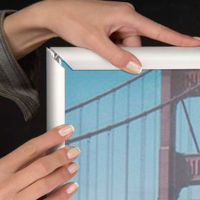 Classic Snap Frame, Silver with Mitered Corners, CSF1-2436MS