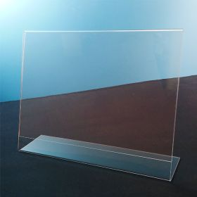 "11"" x 8.5"" slanted horizontal acrylic sign holder"