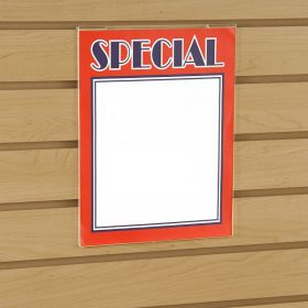 8.5 x 11 Acrylic Wall Mount Sign Holder - Slatwall & Gridwall,19018