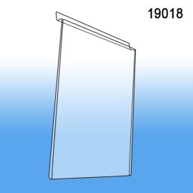 "Slatwall Acrylic Wall Mounted Sign Holder, also fits Gridwall, 8.5"" x 11"", 19018"