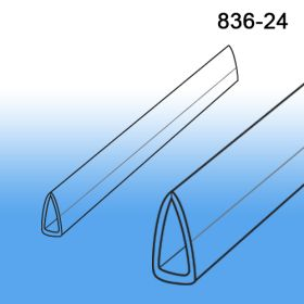 Clear Banner Hanger Stabilizer | Bottom Support | 24"