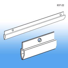 """Banner Hanger   White Rigid PVC   22"""" long   Sign Holder   837-22"""