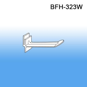 """3"""" White Butterfly Display Plastic Hooks, BFH-323, POWER PANELS"""