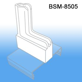Boot-shaped gondola sign holder with Clip-On Base, BSM-8505