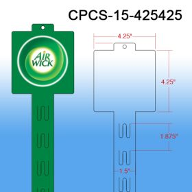 Your Brande Custom Printed Merchandising Strip, 12 Stations, Easy to Load, CPCS-15-425425