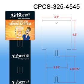 Your Brande Custom Printed Merchandising Strip, 6 Stations, Easy to Load, CPCS-325-4545