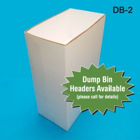 Add a Custom Header to your Medium Corrugated Dump Bin Display, DB-2