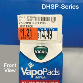 "Power Panel Hooks with scan plate, for  corrugated displays. Available in 4"", 6"" & 8"", DHSP-Series"