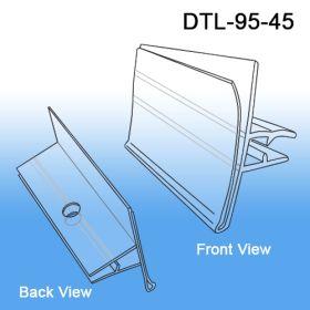 Data-Tag™ Label Holder for 4 to 5 Gauge Metal Scan Hooks, DTL-95-45