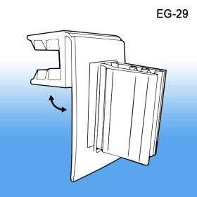 Grip-Tite™ Hinged Flag Sign Holder for Thin Shelves, EG-29