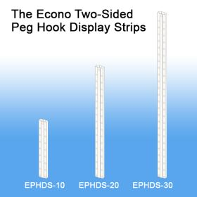 Two-Sided Peg Hook Display Strips, EPHDS-10