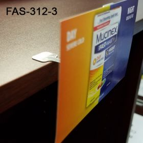 """Easy to Use 3"""" Flexible Aluminum Sign Holder, FAS-312-3"""