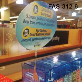 "Multi Surface 6"" Flexible Aluminum Sign Holder, FAS-312-6"