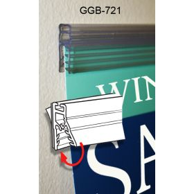 """24"""" Galactic Grip-Tite™ Banner/Sign Holder with Adhesive, Wall Mount, GGB-721"""