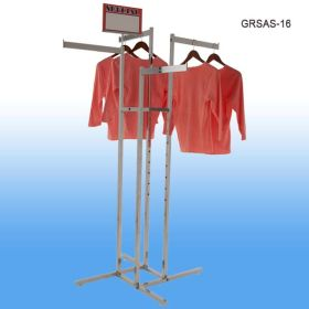 Strong metal clothing rack with 4 arms, GRSAS-16