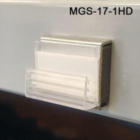 MGS-17-1HD, Gripper teeh heavy duty Magnet Sign Holder. Display signs from top or bottom