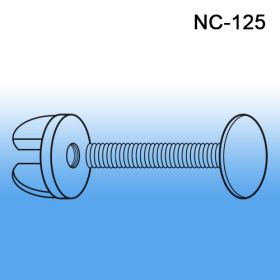 "1.25"" screw length, Clear styrene, pop display fastener, viking clip, nc-125"