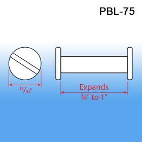 Post & Binder Lock Screws - Display Fasteners, PBL-50, PBL-75