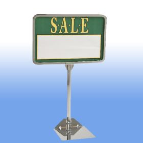 "11"" x 7"" chrome metal sign frame, PCSF-711-10"