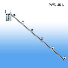 Pegboard Waterfall Display, Metal, 6 balls for Mounting, PWD-45-6