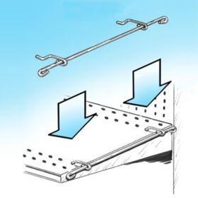 PWB-15, Power Panel Hanger Adapter Bar - Perforated Shelves, Sidekick Hanging