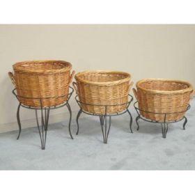 "27"" tall round wicker basket floor display, RWBD-27"