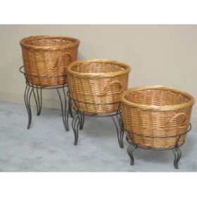 willow basket floor product stand, RWBD-27