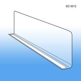 "3"" x 11-9/16"" Econo-Line Shelf Divider, Adhesive, SD-3012"